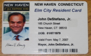example of ID from city of New Haven, CN